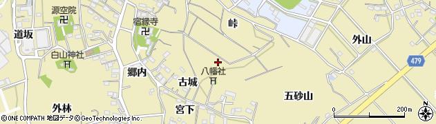 愛知県西尾市西浅井町(城子)周辺の地図