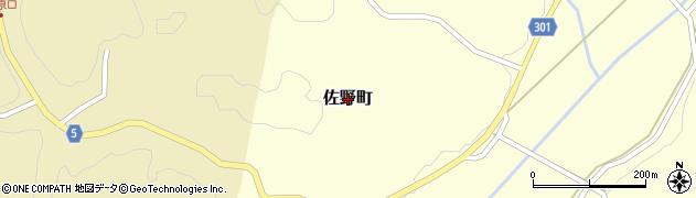 島根県浜田市佐野町周辺の地図