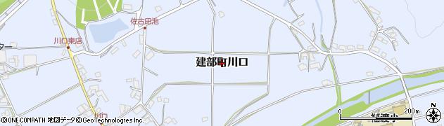 岡山県岡山市北区建部町川口周辺の地図