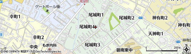 愛知県碧南市尾城町周辺の地図