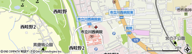 兵庫県川西市東畦野(池ノ口)周辺の地図
