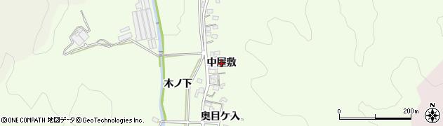 愛知県岡崎市山綱町(中屋敷)周辺の地図
