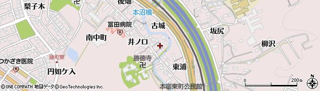 愛知県岡崎市本宿町(北中町)周辺の地図