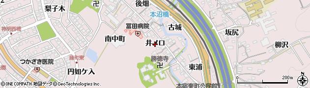 愛知県岡崎市本宿町(井ノ口)周辺の地図