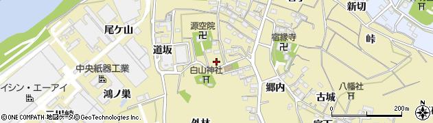 愛知県西尾市西浅井町(札木)周辺の地図