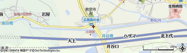 猪渕口周辺の地図
