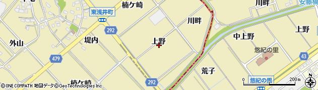 愛知県西尾市東浅井町(上野)周辺の地図