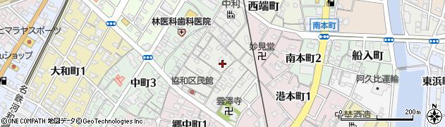 愛知県半田市協和町周辺の地図