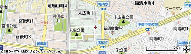 愛知県碧南市末広町周辺の地図