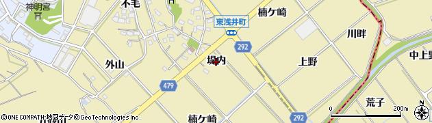 愛知県西尾市東浅井町(堤内)周辺の地図