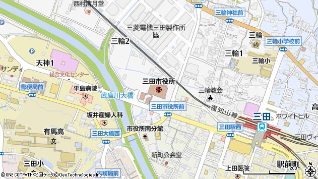 〒669-1536 兵庫県三田市(次に番地がくる場合)の地図