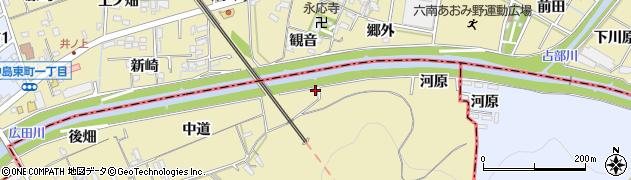 愛知県西尾市上羽角町(羽根山)周辺の地図