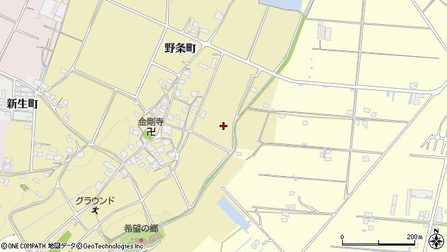 〒675-2202 兵庫県加西市野条町の地図