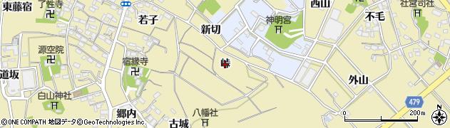 愛知県西尾市西浅井町(峠)周辺の地図