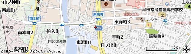 愛知県半田市幸町周辺の地図