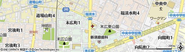 ダイナー周辺の地図