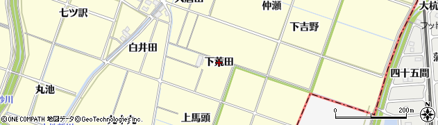 愛知県岡崎市福岡町(下荒田)周辺の地図
