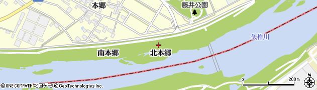 愛知県安城市藤井町(北本郷)周辺の地図