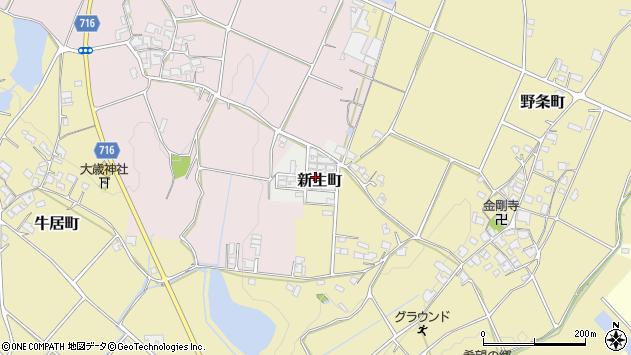 〒675-2204 兵庫県加西市新生町の地図