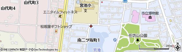 愛知県半田市南二ツ坂町周辺の地図