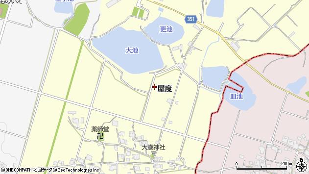 〒673-1422 兵庫県加東市屋度の地図