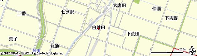 愛知県岡崎市福岡町(白井田)周辺の地図