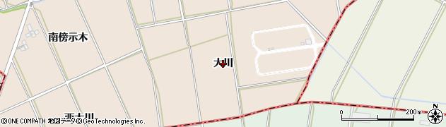 愛知県安城市根崎町(大川)周辺の地図