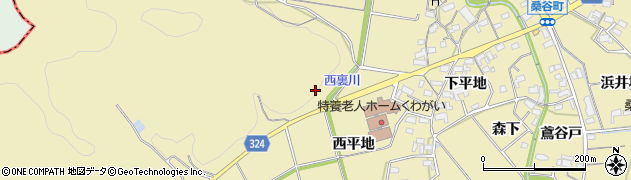 愛知県岡崎市桑谷町(谷崎)周辺の地図