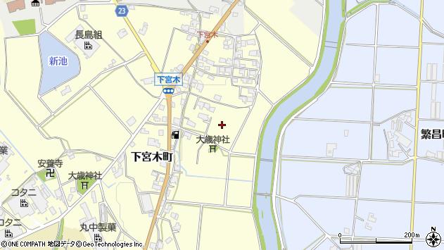 〒675-2105 兵庫県加西市下宮木町の地図
