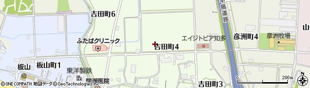 愛知県半田市吉田町周辺の地図