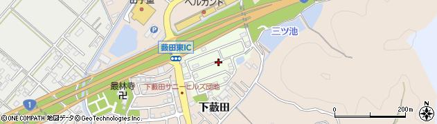 静岡県藤枝市南清里周辺の地図