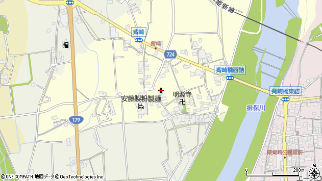 〒679-4324 兵庫県たつの市新宮町觜崎の地図