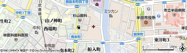 愛知県半田市荒古町周辺の地図