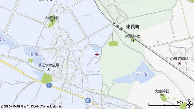 〒675-2342 兵庫県加西市西長町の地図