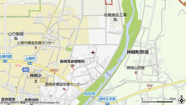 〒679-4105 兵庫県たつの市神岡町西鳥井の地図