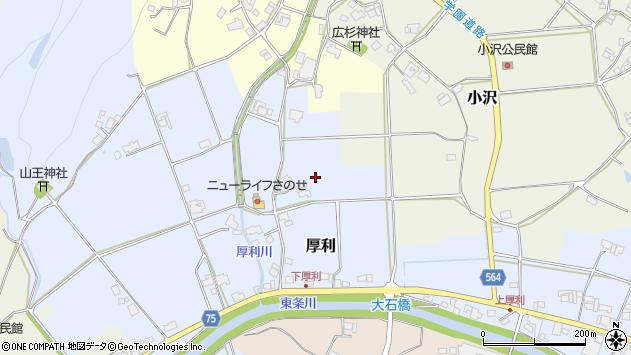 〒673-1338 兵庫県加東市厚利の地図