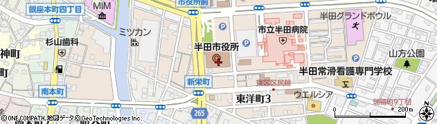 愛知県半田市周辺の地図