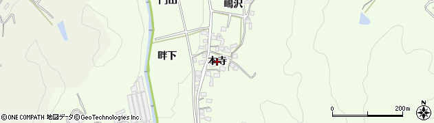 愛知県岡崎市山綱町(本寺)周辺の地図