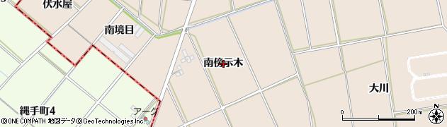 愛知県安城市根崎町(南傍示木)周辺の地図