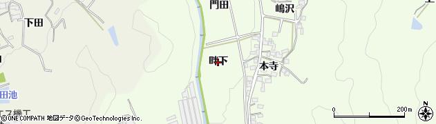愛知県岡崎市山綱町(畔下)周辺の地図