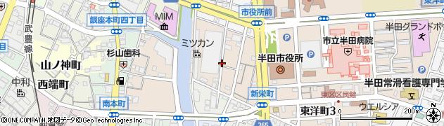 愛知県半田市新栄町周辺の地図