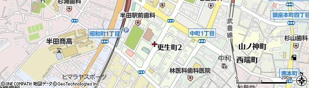 愛知県半田市更生町周辺の地図