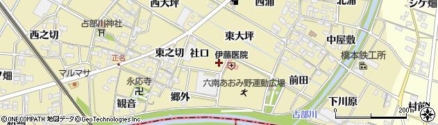 愛知県岡崎市定国町(郷外)周辺の地図