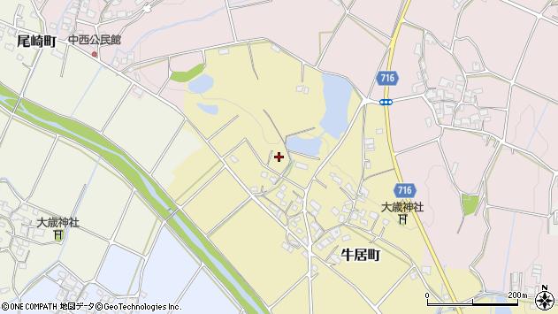 〒675-2203 兵庫県加西市牛居町の地図