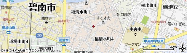 愛知県碧南市福清水町周辺の地図