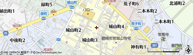 愛知県碧南市城山町周辺の地図
