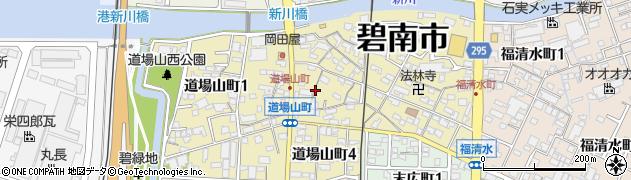 愛知県碧南市道場山町周辺の地図