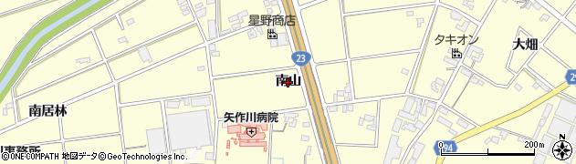 愛知県安城市藤井町(南山)周辺の地図