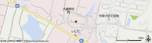 兵庫県小野市福住町周辺の地図