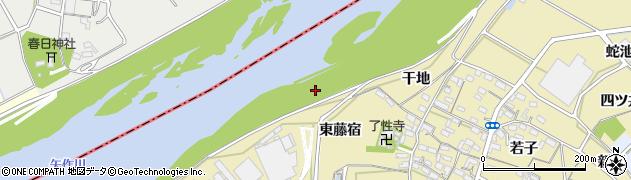 愛知県西尾市西浅井町(藤宿)周辺の地図